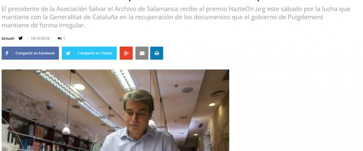 Luchar por el Archivo es hacerlo por la unidad de España